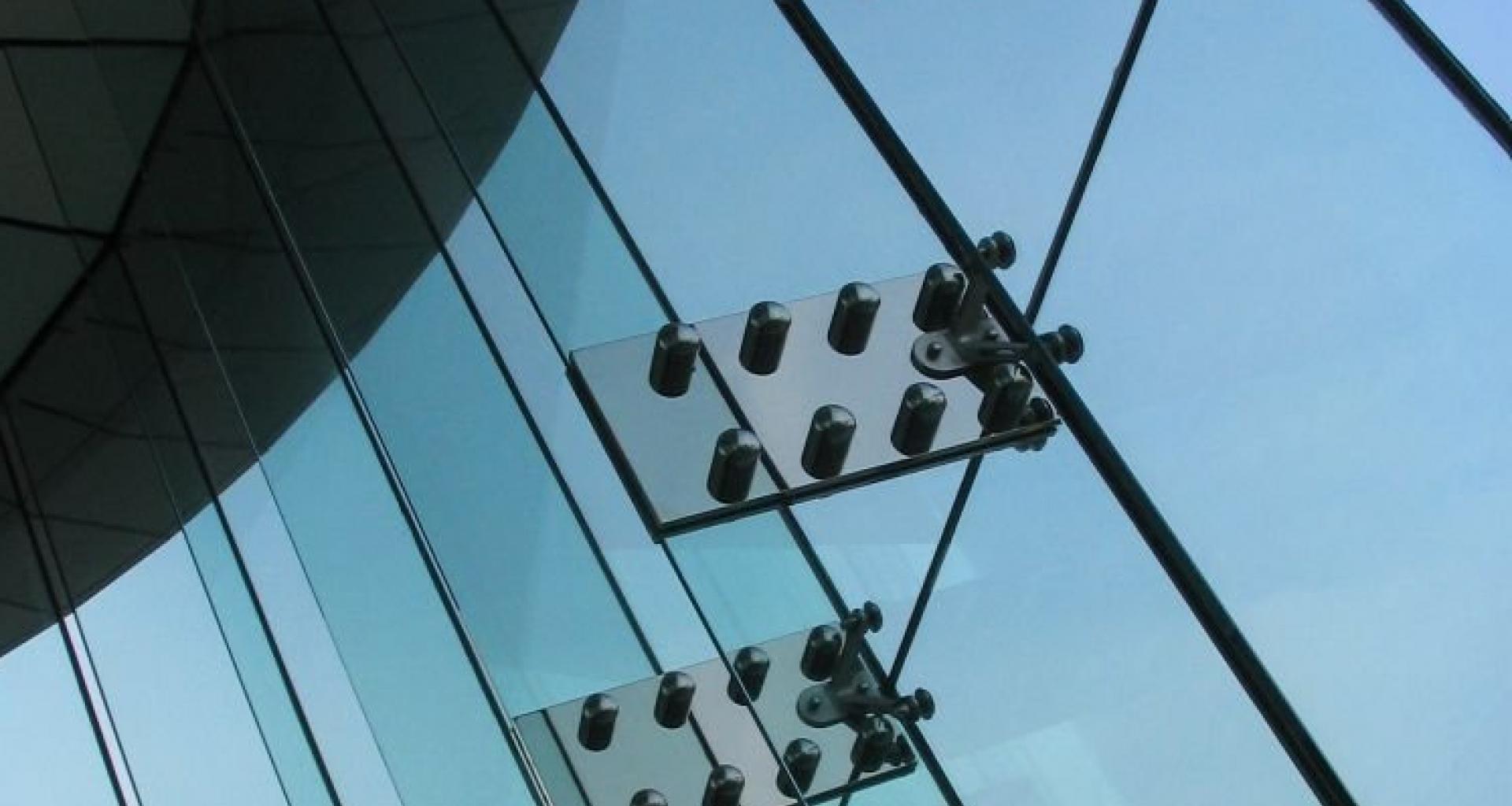 Example of frameless glass